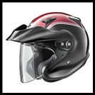 ARAI XC-W GOLDWING COLORMATCHED OPEN-FACE HELMET WITH VISOR & FACE SHIELD -  BLACK/RED