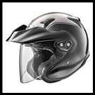 ARAI XC-W GOLDWING COLORMATCHED OPEN-FACE HELMET WITH VISOR & FACE SHIELD -  BLACK/SILVER