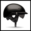 BELL PIT BOSS HALF HELMET WITH SUN SHADE - GLOSS BLACK