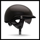 BELL PIT BOSS HALF HELMET WITH SUN SHADE - MATTE BLACK