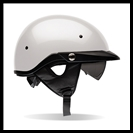 BELL PIT BOSS HALF HELMET WITH SUN SHADE - PEARL WHITE