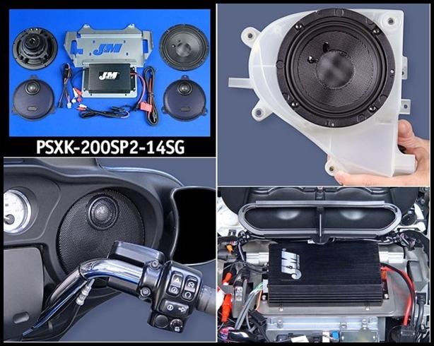 Sierra Electronics | J&M Performance Series 200w 2-Speaker/Amp ... on harley motorcycle stereo amplifier, harley crankcase, harley bluetooth interface, harley wiring color codes, harley stator wiring, harley tow bar, harley dash wiring, harley clutch diaphragm spring, harley headlight harness, harley timing chain, harley choke lever, harley belly pan, harley dash kit, harley headlight adapter, harley clutch rod, harley wiring connectors, harley wiring tools, harley trunk latch, harley banjo bolt, harley wiring kit,