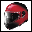 NOLAN N100-5 MODULAR FLIP-UP HELMET WITH VPS DROPDOWN INTERIOR SUNSCREEN - FADE CHERRY