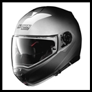 NOLAN N100-5 MODULAR FLIP-UP HELMET WITH VPS DROPDOWN INTERIOR SUNSCREEN - FADE SILVER