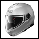 NOLAN N100-5 MODULAR FLIP-UP HELMET WITH VPS DROPDOWN INTERIOR SUNSCREEN - PLATINUM SILVER