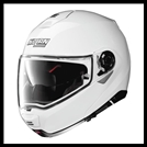 NOLAN N100-5 MODULAR FLIP-UP HELMET WITH VPS DROPDOWN INTERIOR SUNSCREEN - METALLIC WHITE