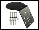 RAM ANTENNA ADAPTER PLATE AMPS HOLE ROUND