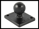 "RAM 2"" x 1.7"" Base with AMPs and 1"" Ball for the Garmin Zumo, TomTom Rider & Urban Rider"
