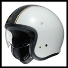 SHOEI J-0 OPEN-FACE HELMET WITH SUN SHIELD VISOR SYSTEM - CARBURETTOR TC-6