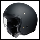 SHOEI J-0 OPEN-FACE HELMET WITH SUN SHIELD VISOR SYSTEM - MATTE BLACK