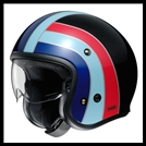 SHOEI J-0 OPEN-FACE HELMET WITH SUN SHIELD VISOR SYSTEM - NOSTALGIA TC-10