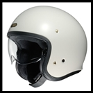 SHOEI J-0 OPEN-FACE HELMET WITH SUN SHIELD VISOR SYSTEM - OFF WHITE