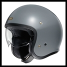 SHOEI J-0 OPEN-FACE HELMET WITH SUN SHIELD VISOR SYSTEM - RAT GREY