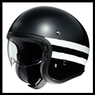SHOEI J-0 OPEN-FACE HELMET WITH SUN SHIELD VISOR SYSTEM - SEQUEL TC-5