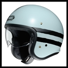 SHOEI J-0 OPEN-FACE HELMET WITH SUN SHIELD VISOR SYSTEM - SEQUEL TC-10