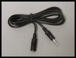SIERRA ELECTRONICS 3.5MM STEREO EXTENSION CABLE - MALE STRAIGHT PLUG / FEMALE RECEPTACLE