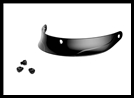 Sena Replacement Peak Visor with Bolts for Sena Cavalry Bluetooth Half Helmet - Glossy Black