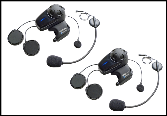 SENA SMH10 Motorcycle Bluetooth Headset/Intercom - Universal Microphone Kit - Dual Pack
