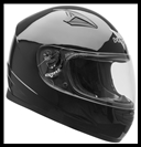 VEGA MACH 2.0 JR. FULL FACE YOUTH HELMET - GLOSS BLACK