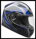 VEGA MACH 2.0 JR. FULL FACE YOUTH HELMET - TECH BLUE GRAPHIC