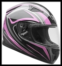 VEGA MACH 2.0 JR. FULL FACE YOUTH HELMET - TECH PINK GRAPHIC