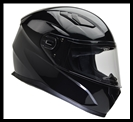 VEGA ULTRA FULL FACE HELMET - GLOSS BLACK