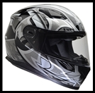 VEGA ULTRA FULL FACE HELMET - BLACK SHURIKEN GRAPHIC