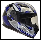 VEGA ULTRA FULL FACE HELMET - BLUE SHURIKEN GRAPHIC
