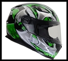 VEGA ULTRA FULL FACE HELMET - GREEN SHURIKEN GRAPHIC