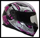 VEGA ULTRA FULL FACE HELMET - PINK SHURIKEN GRAPHIC
