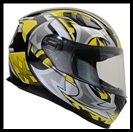 VEGA ULTRA FULL FACE HELMET - YELLOW SHURIKEN GRAPHIC