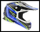 VEGA MIGHTY X2 JR. OFF-ROAD HELMET - BLUE TACTIC GRAPHIC