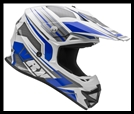 VEGA VRX OFF-ROAD HELMET - VENOM BLUE GRAPHIC