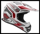 VEGA VRX OFF-ROAD HELMET - VENOM RED GRAPHIC