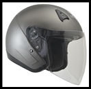 VEGA VTS1 OPEN FACE HELMET WITH VISOR, SHIELD, AND DROP-DOWN SUNSHIELD - MATTE TITANIUM