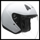 VEGA VTS1 OPEN FACE HELMET WITH VISOR, SHIELD, AND DROP-DOWN SUNSHIELD - PEARL WHITE