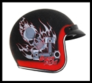 VEGA X380 OPEN FACE HELMET - SPEED DEVIL GRAPHIC