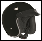 VEGA X380 OPEN FACE HELMET - GLOSS BLACK