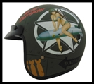 VEGA X380 OPEN FACE HELMET - BOMBS AWAY GRAPHIC