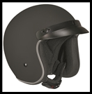 VEGA X380 OPEN FACE HELMET - MATTE BLACK