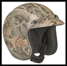 VEGA X380 OPEN FACE HELMET - FOREST CAMO GRAPHIC