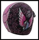 VEGA X380 OPEN FACE HELMET - LETHAL ANGEL GRAPHIC